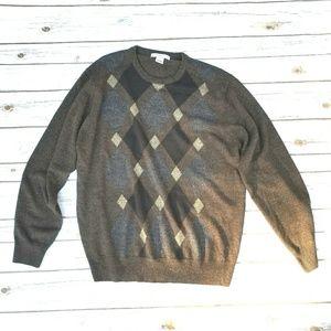 PRICE DROP Argyle Sweater // Vintage 90s